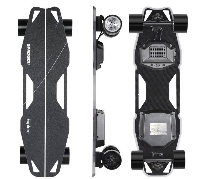 Spadger Electric Skateboard D5X review